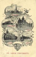 St. Louis (Missouri), Saint Louis University, St. Xavier Church, Medical and Dental, Philosophy, Divinity, Collegiate. Art Nouveau, floral (EK)