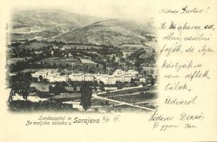 1899 Sarajevo, Landesspital in ze maljska bolniku / hospital