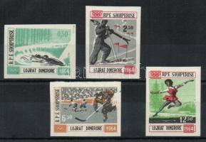 1963 Téli olimpia Innsbruck vágott sor Mi 798-801