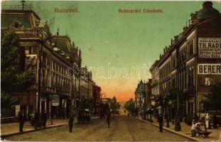 1906 Bucharest, Bucuresti; Bulevardul Elisabeta, Drogueria Brus / street, drogerie, shops (EK)