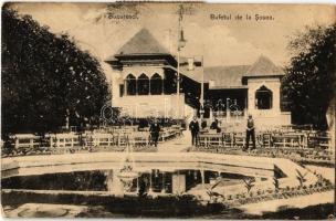 1906 Bucharest, Bucuresti; Bufetul de la Sosea / buffet and restaurant kiosk (EK)