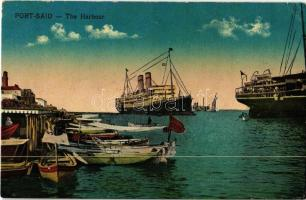 Port Said, the harbour with ships and boats (fa)