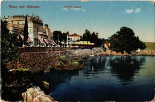 1913 Abbazia, Opatija; Angiolinabad / spa hotel (worn corners)
