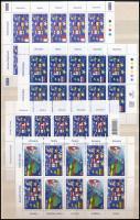 2004 Egyesült Európa 9 klf kisív / United Europe 2004 9 different mini sheets (Mi EUR 110,-)