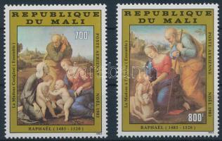 1983 Karácsony, festmények sor, Christmas, paintings set Mi 936-938