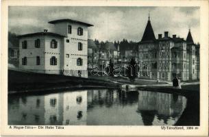 Újtátrafüred, Neu-Schmecks, Novy Smokovec (Tátra, Magas Tátra, Vysoké Tatry); szálloda, nyaraló / hotel, villa