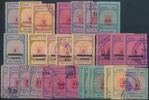 Szolnok 29 db okmánybélyeg (336.000) / fiscal stamps