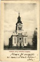 Aknaszlatina, Slatinské Doly, Solotvyno; Szlatinai görögkatolikus templom. Kiadja Kaufmann Ábrahám és fiai / Greek Catholic church (EB)