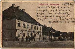 1906 Dárda, Darda; Korona szálloda. Kiadja Frank Béla könyvnyomdája / hotel (EB)