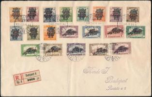 1920 Búzakalász teljes sor ajánlott levélen