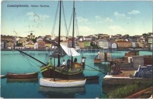 1913 Mali Losinj, Lussinpiccolo; Hafen Parthie / kikötő / port, boats (EK)