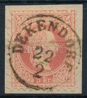 1867 5kr DEKENDORF (Gudlin 350 pont)