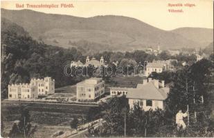 Trencsénteplic, Trencianske Teplice; Nyaralók völgye / Villental / villas