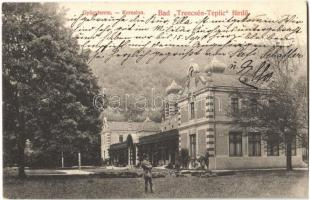 1909 Trencsénteplic, Trencianske Teplice; fürdő, gyógyterem. Kiadja Wertheim Zsigmond / Kursalon / spa, baths