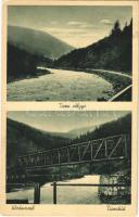 Kőrösmező, Jaszinya, Jasina, Yasinia; Tisza völgye, Tisza híd / riverbank, valley, bridge (EK)