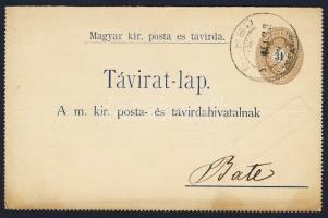 1900 31kr díjjegyes zárt táviratlap BÜSSÜ - Balé