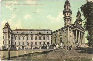 1910 Ungvár, Uzshorod, Uzhhorod, Uzhorod; Görögkatolikus székesegyház és püspöki palota / Greek Catholic cathedral and bishops palace (EK)