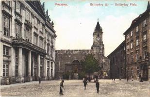 1909 Pozsony, Pressburg, Bratislava; Batthyány tér. Fotochrom 1242. / square