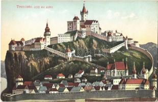 Trencsén, Trencín; A trencséni vár 200 évvel ezelőtt. Kiadja Gansel Lipót / Trenciansky hrad / castle 200 years ago