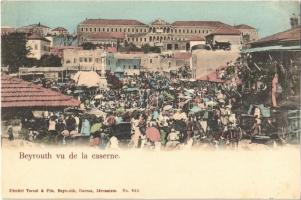 1905 Beirut, Beyrouth; vu de la caserne / militry barracks, market + OESTERREICHISCHE POST