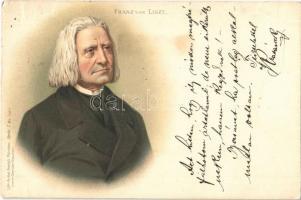 1898 Liszt Ferenc / Franz von Liszt. Lith-Artist Anstalt München Serie I. No. 15913. litho