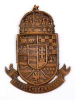 ~1905. Királyért és Hazáért magyar királyi csendőr sapkajelvény (82x61mm) T:2