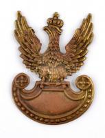 Lengyelország ~1939-1945. Katonai sapkajelvény (56x40mm)  Poland ~1939-1945. Military cap badge (56x40mm)