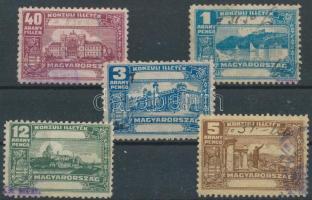 1933-1936 5 klf Konzuli illetékbélyeg
