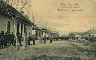 1908 India, Indija; Hauptgasse / Glavna ulica / Fő utca, piac, üzletek / main street, market shops. W.L. 834. (EK)