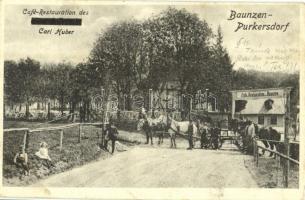 1923 Baunzen-Purkersdorf, Cafe Restauration (Johann Ehn) Carl Huber / cafe and restaurant (fl)