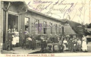 Brunn am Gebirge, Gruss aus dem n.-ö. Winzerhaus / restaurant (EK)
