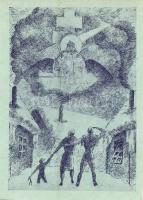 Dum Spiro Spero. Edition of Hungarian Refugees in Austria. Irredenta art postcard / A magyar menekültek kiadása Ausztriában