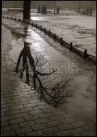 cca 1934 Kinszki Imre (1901-1945) budapesti fotóművész hagyatékából, jelzés nélküli, vintage NEGATÍV (Tükröződés), 6,8x4,4 cm