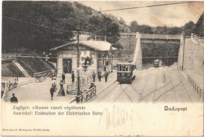 1903 Budapest XII. Zugliget villamos vasúti végállomás. Schwarz J. kiadása
