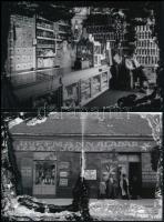 cca 1944 Vegyesbolt Kiskunfélegyházán, a Marika fotóműterem felvételei, 2 db mai nagyítás, 10x15 cm