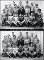 cca 1943 Ökölvívó szakosztály Kiskunfélegyházán, a Marika fotóműterem felvételei, 7 db mai nagyítás, 10x15 cm