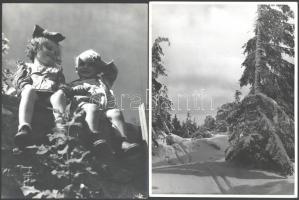 cca 1940 Matheisel József (1908-1961) rozsnyóbányai fotóművész hagyatékából 4 db vintage fotó, az egyik feliratozott, 23x17 cm