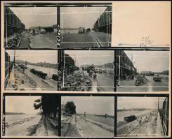 1963. június 14. Budapest, a Duna alsó rakpartját szélesítik, 8 db vintage fotó Bojár Sándor budapesti fotóriporter hagyatékából, 6x6 cm