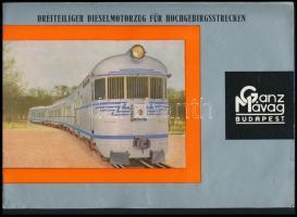Ganz-MÁVAG Budapest dreiteiliger Dieselmotorzug für Hochgebirgsstrecken német nyelvű prospektus