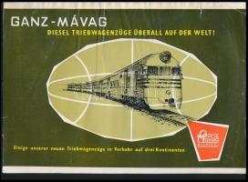 Ganz-MÁVAG Diesel Triebwagenzüge Überall auf der Welt! német nyelvű prospektus, szakadással