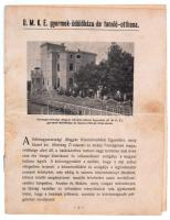 cca 1910 Cirkvenica, a Délmagyarországi Magyar Közművelődési Egyesület gyermek-üdülőházának és tanuló-otthonának ismertető füzete