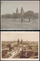 cca 1900 Szatmárnémeti, római katolikus székesegyház, 6 db fotó, 9×12 cm