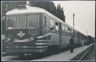 MÁV-mozdony, fotó, 8,5×13,5 cm