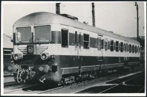 MÁV-mozdony, fotó, 9×14 cm