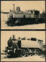 MÁV-mozdonyok, 3 db fotó, különböző méretben