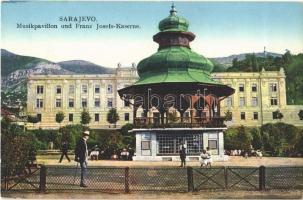 Sarajevo, Musikpavillon und Franz Josefs-Kaserne / music pavilion and military barracks