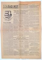 1956 a Szabad nép, az MDP központi lapja 14. évf. 297. lapszáma (okt. 29.), érdekes aktuális hírekkel