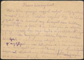 1944 Munkaszolgálatos hazaküldött levele Pesthidegkútra