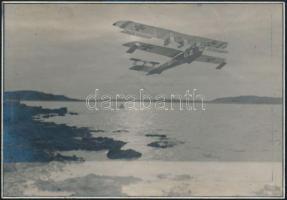 cca 1916 Osztrák-Magyar Haditengerészet Mickl G2 hidroplánja, fotó, 11×17 cm