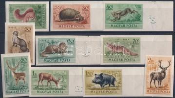 1953 Erdei állatok részben ívszéli vágott sor (15.000)